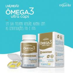Equaliv Omega 3 Ultra Caps mais concentrado 60 caps.gel - equaliv